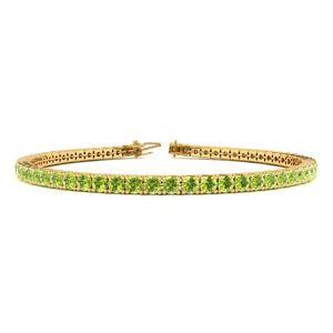 SuperJeweler 4 Carat Peridot Tennis Bracelet in 14K Yellow Gold (9.4 g), 7 Inches by SuperJeweler