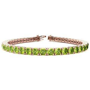 SuperJeweler 9 1/5 Carat Peridot Tennis Bracelet in 14K Rose Gold (12 g), 7 Inches by SuperJeweler