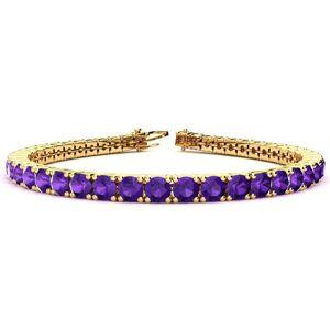 SuperJeweler 9 3/4 Carat Amethyst Tennis Bracelet in 14K Yellow Gold (10.3 g), 6 Inch by SuperJeweler