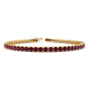 Sundar Gem 4 1/2 Carat Garnet Tennis Bracelet in 14K Yellow Gold (9.4 g), 7 Inches by Sundar Gem