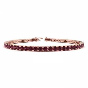 SuperJeweler 4 1/2 Carat Garnet Tennis Bracelet in 14K Rose Gold (9.4 g), 7 Inches by SuperJeweler