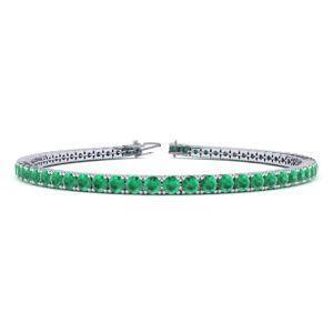 SuperJeweler 5 Carat Emerald Tennis Bracelet in 14K White Gold (8.1 g), 6 Inch by SuperJeweler