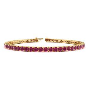SuperJeweler 5 1/2 Carat Ruby Tennis Bracelet in 14K Yellow Gold (8.1 g), 6 Inch by SuperJeweler