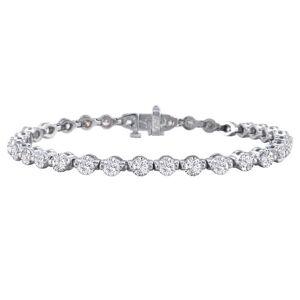 SuperJeweler 7 Carat Diamond Tennis Bracelet in 14K White Gold (14 g), , 7 Inch by SuperJeweler