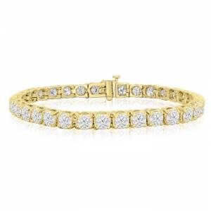 SuperJeweler 9 Carat Diamond Tennis Bracelet 7 inches yellow gold, 7 Inches,  by SuperJeweler