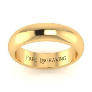 SuperJeweler Yellow Gold (4.5 g) 5MM Comfort Fit Ladies & Men's Wedding Band, Size 7.5, Free Engraving by SuperJeweler