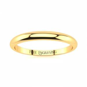 SuperJeweler 14K Yellow Gold (1.9 g) 2MM Heavy Tapered Ladies & Men's Wedding Band, Size 7.5, Free Engraving by SuperJeweler
