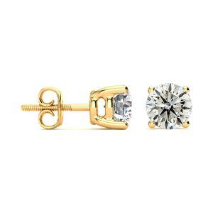 Hansa 2 Carat Diamond Stud Earrings in 14K Yellow Gold (, I1-I2) by SuperJeweler