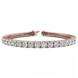 SuperJeweler 9 3/4 Carat Diamond Tennis Bracelet in 14K Rose Gold, 7.5 Inches,  by SuperJeweler