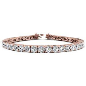 SuperJeweler 11 3/4 Carat Diamond Tennis Bracelet in 14K Rose Gold, 9 Inches,  by SuperJeweler