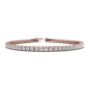 SuperJeweler 3 1/4 Carat Diamond Tennis Bracelet in 14K Rose Gold, 7.5 Inches,  by SuperJeweler