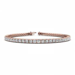 SuperJeweler 3 2/3 Carat Diamond Tennis Bracelet in 14K Rose Gold, 8.5 Inches,  by SuperJeweler