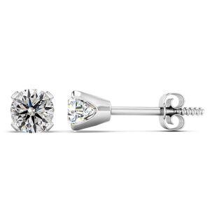 SuperJeweler Nearly 1 Carat Diamond Stud Earrings in 14K White Gold (1.5 Grams) (E-F, I2 Clarity Enhanced) by SuperJeweler