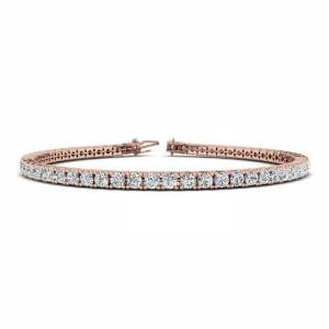 SuperJeweler 3 1/4 Carat Diamond Men's Tennis Bracelet in 14K Rose Gold, 7.5 Inches,  by SuperJeweler