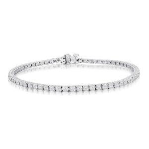 SuperJeweler 3 1/5 Carat Diamond Men's Tennis Bracelet in 14K White Gold, 7.5 Inches,  by SuperJeweler