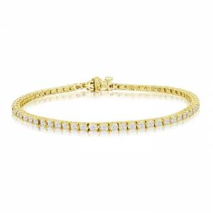 SuperJeweler 3 1/5 Carat Diamond Men's Tennis Bracelet in 14K Yellow Gold, 7.5 Inches,  by SuperJeweler