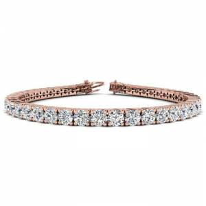 SuperJeweler 9 3/4 Carat Diamond Men's Tennis Bracelet in 14K Rose Gold, 7.5 Inches,  by SuperJeweler
