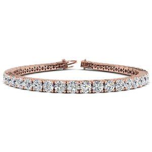 SuperJeweler 11 3/4 Carat Diamond Men's Tennis Bracelet in 14K Rose Gold, 9 Inches,  by SuperJeweler