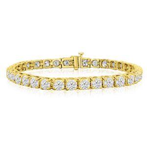 SuperJeweler 11 3/4 Carat Diamond Men's Tennis Bracelet in 14K Yellow Gold, 9 Inches,  by SuperJeweler