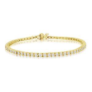 SuperJeweler 3 2/3 Carat Diamond Men's Tennis Bracelet in 14K Yellow Gold, 8.5 Inches,  by SuperJeweler