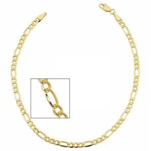 SuperJeweler 3.3mm Figaro Chain Bracelet, 8.5 Inches, Yellow Gold (3.30 g) by SuperJeweler