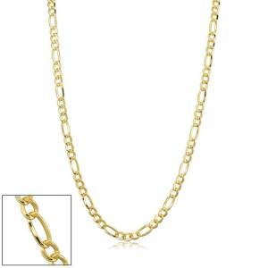 SuperJeweler 3.3mm Figaro Chain Necklace, 20 Inches, Yellow Gold (7.10 g) by SuperJeweler