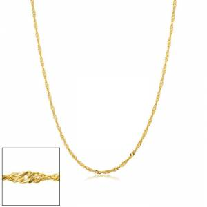 SuperJeweler 1.7mm Singapore Chain Necklace, 18 Inches, Yellow Gold (2.15 g) by SuperJeweler