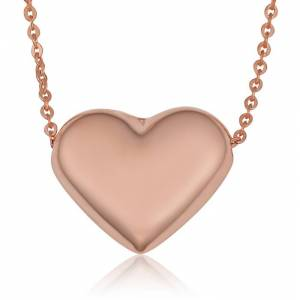 SuperJeweler Rose Gold (3 3 g) Bubble Heart Necklace, 18 Inches by SuperJeweler