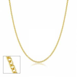 SuperJeweler 2.1mm Round Cable Link Chain Necklace, 18 Inches, Yellow Gold (3.35 g) by SuperJeweler