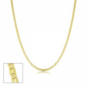 SuperJeweler 2.1mm Valentino Link Chain Necklace, 18 Inches, Yellow Gold (3.40 g) by SuperJeweler