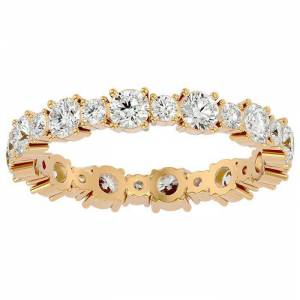 SuperJeweler 14K Yellow Gold (2.20 g) 1.5 Carat Diamond Eternity Ring (, SI2-I1), Size 4 by SuperJeweler