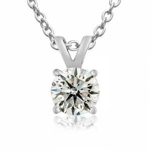 SuperJeweler 3/4 Carat 14k White Gold (1.9 Grams) Diamond Pendant Necklace (E-F Color, I2 Clarity, Clarity Enhanced), 18 Inch Chain by SuperJeweler