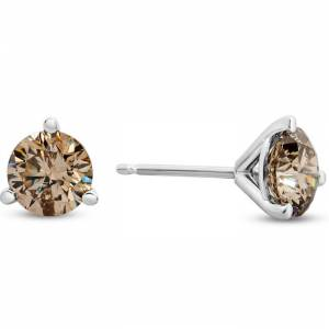 SuperJeweler Previously Owned 1.5 Carat Diamond Martini Stud Earrings in 14K White Gold (L-M by SuperJeweler