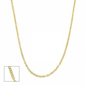 SuperJeweler 14K Yellow Gold (2.5 g) 1.5mm Cable Chain Necklace, 18 Inches by SuperJeweler