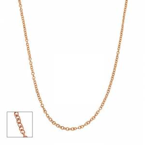 SuperJeweler 14K Rose Gold (2.5 g) 1.5mm Cable Chain Necklace, 18 Inches by SuperJeweler