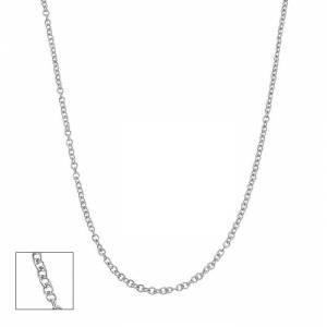 SuperJeweler 14K White Gold (2.5 g) 1.5mm Cable Chain Necklace, 18 Inches by SuperJeweler