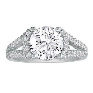 SuperJeweler 2 1/3 Carat Halo Diamond Engagement Ring in 14K White Gold, Split Shank (, SI2-I1) by SuperJeweler