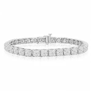 SuperJeweler 11 3/4 Carat Diamond Tennis Bracelet in 14K White Gold (19.9 g), 9 Inches,  by SuperJeweler