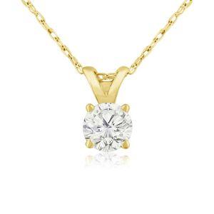Hansa 1/3 Carat 14k Yellow Gold Diamond Pendant Necklace, , 18 Inch Chain by SuperJeweler