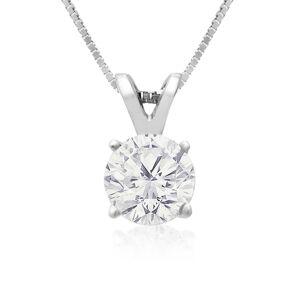 SuperJeweler 3/4 Carat 14k White Gold Diamond Pendant Necklace, 2 Stars, , 18 Inch Chain by SuperJeweler