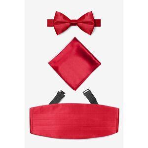 """Elite by Brent Morgan® """"Crimson Pretied Bow Tie Cummerbund Set by Elite by Brent Morgan® -  Red Silk"""""""