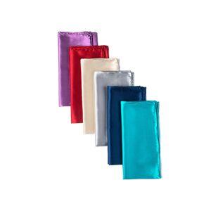 "Elite by Brent Morgan® ""Satin Silk Pocket Square Pack by Elite by Brent Morgan® -  Navy Blue Silk"""