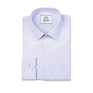 "Alynn ""Evan Classic Fit Dress Shirt by Alynn -  Purple Polyester"""