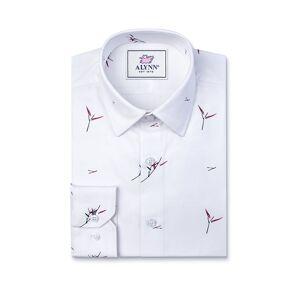 "Alynn ""Sheldon Slim Fit Untuckable Dress Shirt by Alynn -  White Cotton"""