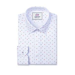 "Alynn ""Percy Slim Fit Untuckable Dress Shirt by Alynn -  White Cotton"""