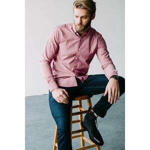 "Alynn ""Lucas Classic Fit Casual Shirt by Alynn -  Red Cotton"""