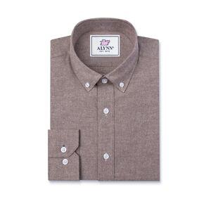 "Alynn ""Lucas Slim Fit Casual Shirt by Alynn -  Brown Cotton"""