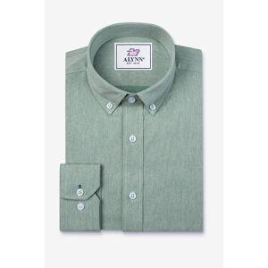 """Alynn """"Caden Slim Fit Casual Shirt by Alynn -  Green Cotton"""""""