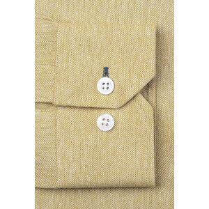 """Alynn """"Caden Classic Fit Casual Shirt by Alynn -  Mustard Cotton"""""""