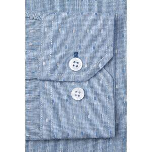 """Alynn """"Mason Classic Fit Casual Shirt by Alynn -  Blue Cotton"""""""